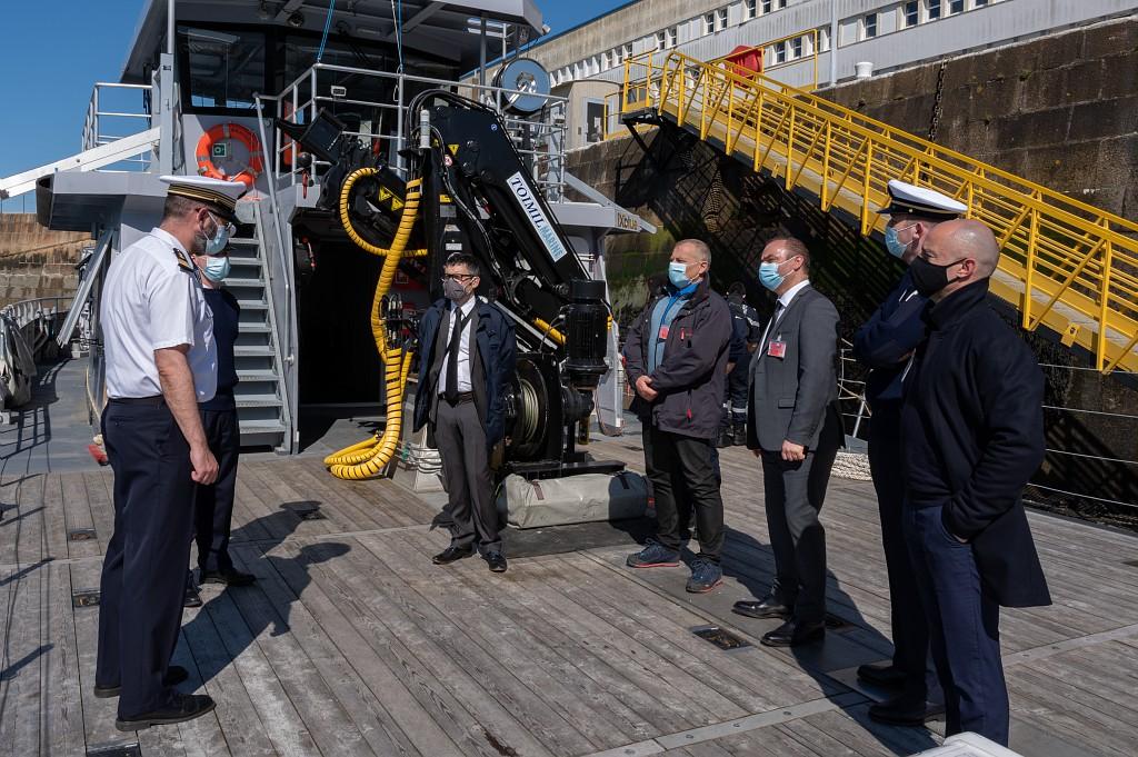 La base navale de Cherbourg reçoit une délégation UNICAEN