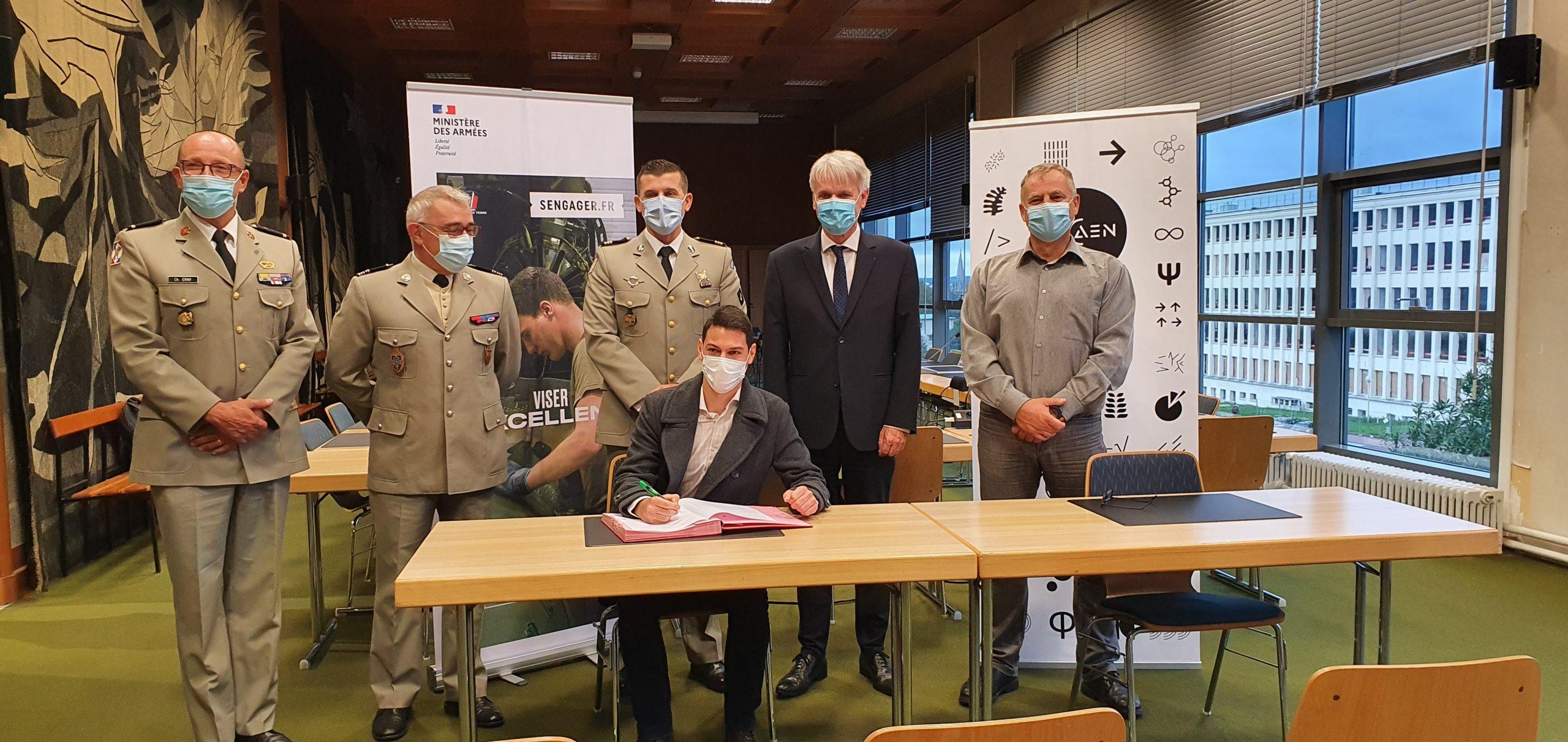 Un diplômé UNICAEN devient officier spécialiste dans l'armée de terre