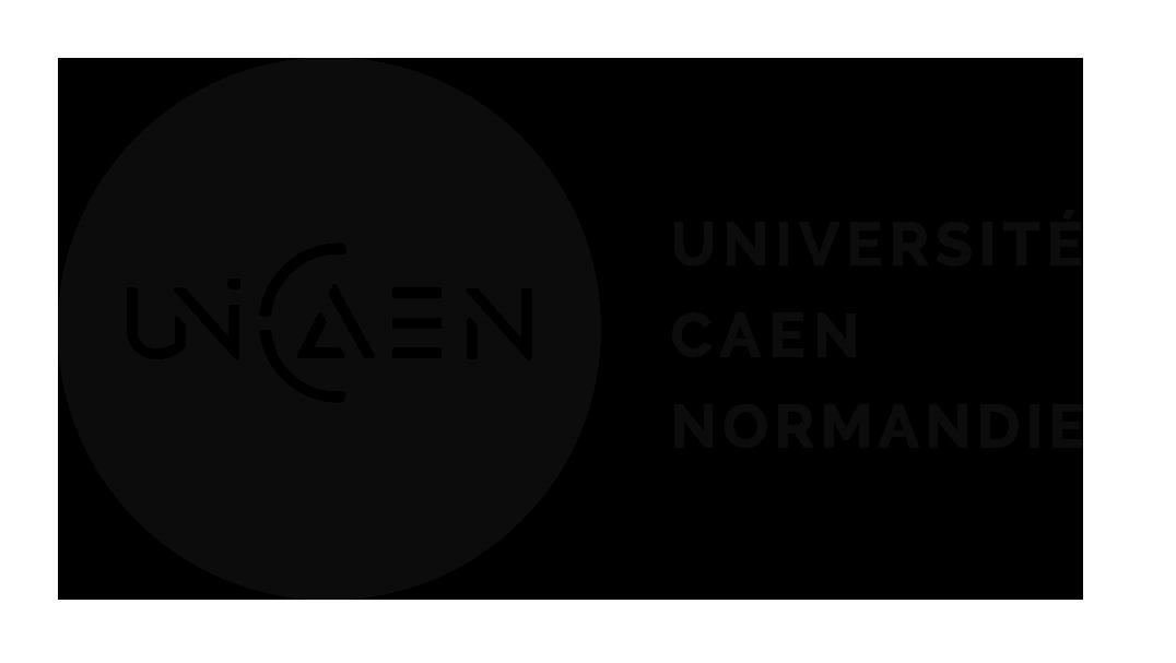 Logo horizontal noir UNICAEN