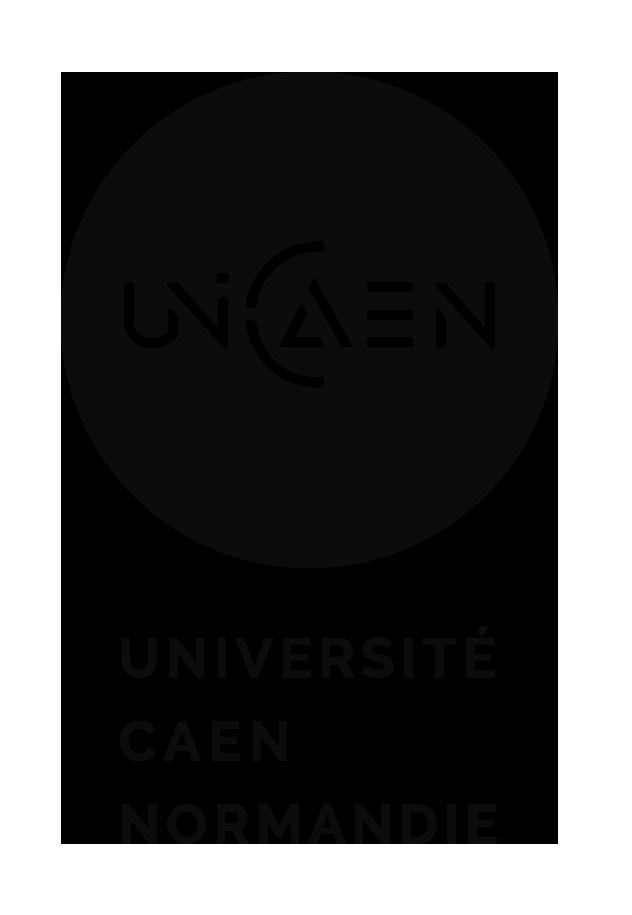 Logo vertical noir UNICAEN