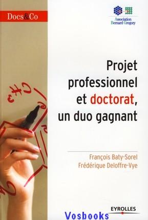 projet professionnel et doctorat